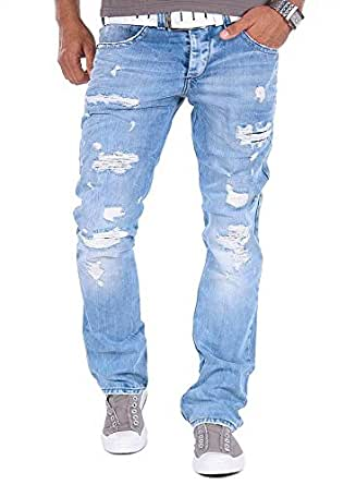Red Bridge by Cipo & Baxx RB-171 Jeans Distressed Style Helle Waschung Herren Hose (W29/L32)