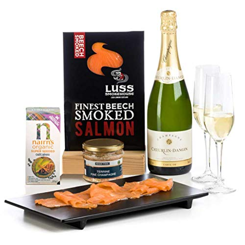 Champagne & Smoked Salmon - Gluten Free Hamper Gift - Free UK delivery