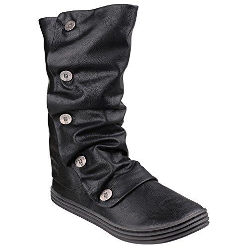 Blowfish Damen Raton Old Saddle Stiefel mit Knöpfen (36 EU) (Schwarz) (Stiefel Mit Knöpfen)
