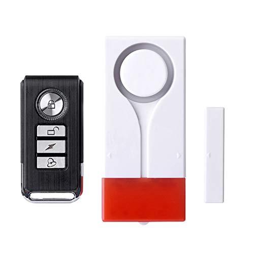 Man9Han1Qxi Batteriebetriebene Wireless Security Alarm Remote Control Alarm System für Haus Apartment Hotel Tür Fenster Schublade, Schrank Wireless Security Alarm System