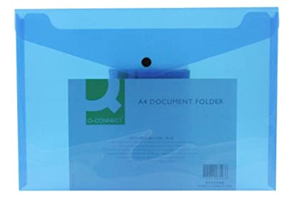 Q Connect A4 Polypropylene Document Folder - Assorted, Pack of 12