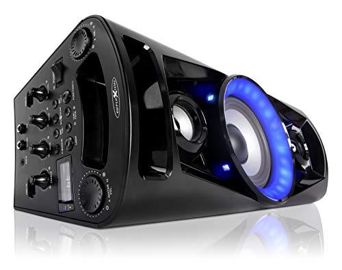 Reflexion PS07BT Mobile Discosoundmaschine (inkl. Bluetooth, Radio, 2x USB, AUX-IN, Karaokefunktion und Akku) schwarz - 2