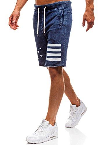 BOLF Hombre Pantalón Corto Extreme EX02 Azul Oscuro M [7G7]