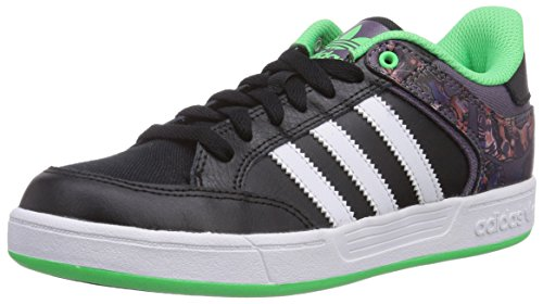 adidas Varial Low, Unisex-Erwachsene Sneakers, Schwarz (Core Black/Ash Purple S15-St/Flash Green S15), 39 1/3 EU (6 Erwachsene UK)