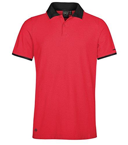 Stormtech Herren Poloshirt Scarlet Red/Black