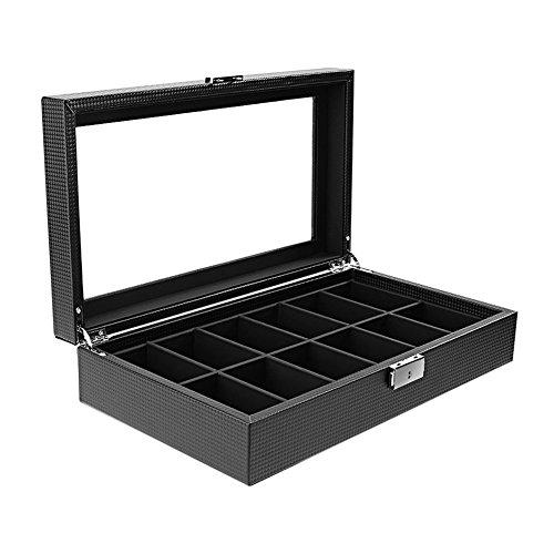 tlfyajj 12boîtes pour montres , Boîte de Monili Bijoux multi-funzionale Noir