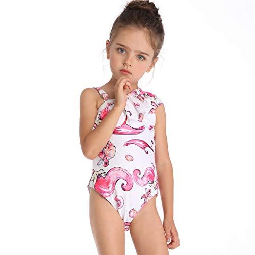 HUXINFEI Familien-Passende Anzüge, Einteiliger Mutter-Mädchen-Bikini, Baby-Badeanzüge, Kleinkind-Kinderschwimmbikini, Strandbadebekleidung Mit Kinderdruck,Child,104