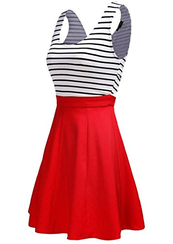 U8Vision - Robe - Patineuse - Femme Small Rouge