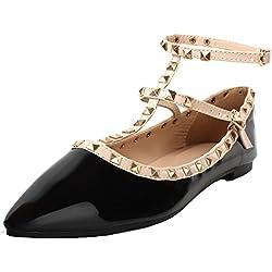 AgeeMi Shoes Donna Rivetto Ballerine Scarpe A Punta Donna con Fibbie