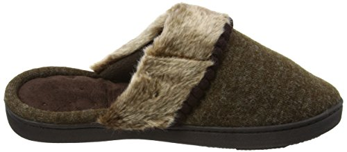 Isotoner Fine Knit Mule Slippers, Pantofole Donna Marrone (Brown)