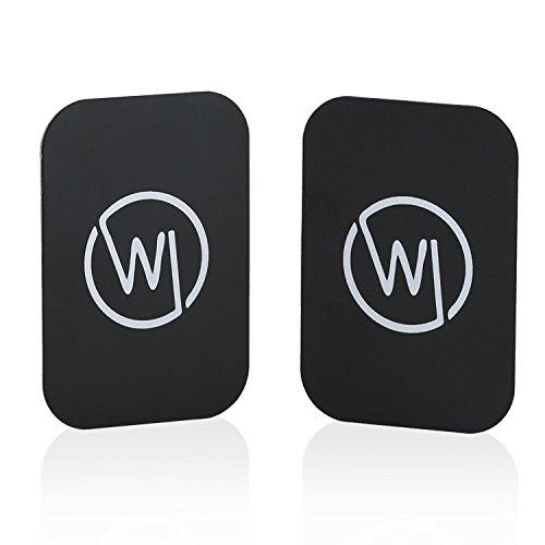 Wicked Chili Metallplättchen 2 Stück für Magnethalterung (KFZ, Scheibe, Lüftung) für Handy und Smartphone (Selbstklebende Metall Plättchen für Magnet Halterungen Aller Hersteller) schwarz Dünne Handy