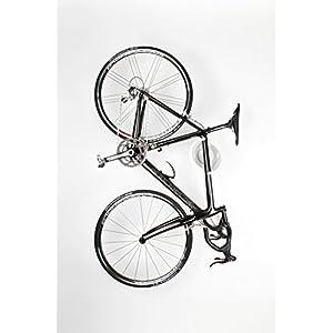 Cycloc Solo - Elegante Soporte de Pared para Bicicleta y Estante de Almacenamiento - Múltiples Opciones de Color Disponibles, Blanco