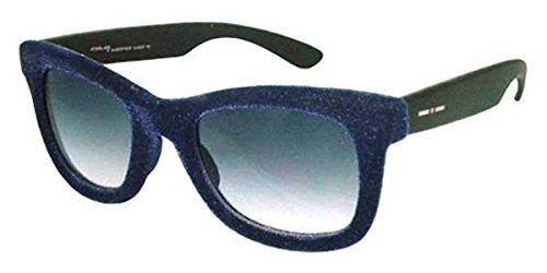 Italia Independent I-I Mod Velvet 0090 Wayfarer Sunglasses in Dark Blue Velvet II0090V-021 000