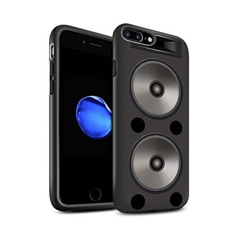 Coque Matte Robuste Antichoc de STUFF4 / Coque pour Apple iPhone 8 Plus / Pack 5pcs / Haut-Parleur dessin Double