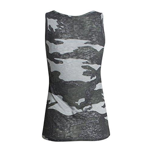 """Top """"HEIDI"""" für Damen - von Key Largo - in zwei Farben - Army Look - Camoulage Leichtes Sommer Top - Freizeit Look Silver"""
