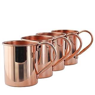 Zap Impex ® Solide reines kupfernes Moscow Mule Tassen Set von 4