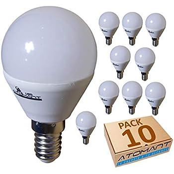 LA) 10x Bombilla LED G45 7w, Blanco Calido (3000K), 650 LUMENES ...