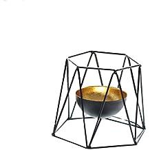 Ywyun candelabro de metal simple adornos creativo, moderno / oficina sala de estar / dormitorio decoraciones caseras ornamentos, 15 * 12cm ( Color : Negro )