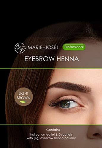 Brow Henna - Henna für Augenbrauen - Hellbraun | Jetzt mit mehr Inhalt: 15 Anwendungen!