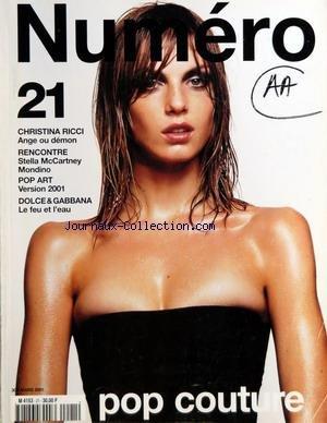 NUMERO [No 21] du 01/03/2001 - POP COUTURE - CHRISTINA RICCI - STELLA MCCARTNEY MONDINO - POP ART - VERSION 2001 - DOLCE AND GABBANA