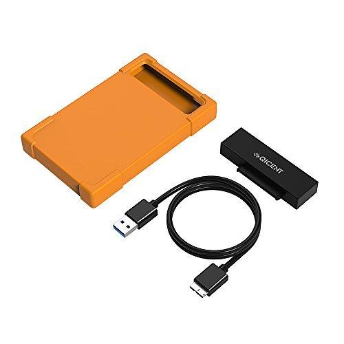 SATA-Kabel Adapter mit Festplatte Silikon Schutzhülle für 6,3 cm 7/9,5 mm HDD/SSD HARD drive-gray (Ersetzen Sata Festplatte)