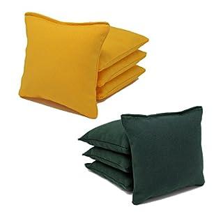 ACA Regulation Cornhole Bags (Set of 8) (Hunter Green and Yellow)