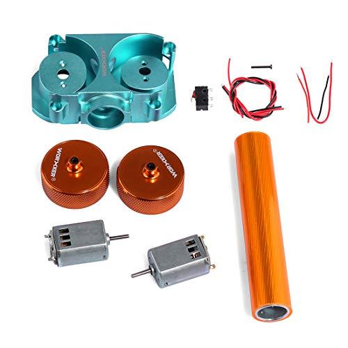 Foxom Worker Flywheel Upgrade Kits Set für Nerf Stryfe Rapidstrike CS-18 Blaster, Inklusive Flywheel Cage, Flywheels, Motor, Draht und Schraube, Orange