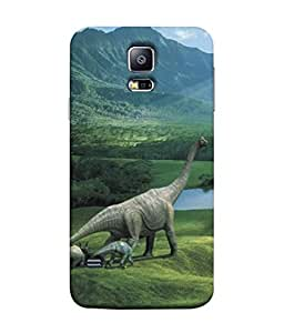 PrintVisa Dainosaurs Family 3D Hard Polycarbonate Designer Back Case Cover for Samsung Galaxy S5 Mini :: Samsung Galaxy S5 Mini Duos :: Samsung Galaxy S5 Mini Duos G80 0H/Ds :: Samsung Galaxy S5 Mini G800F G800A G800Hq G800H G800M G800R4 G800Y