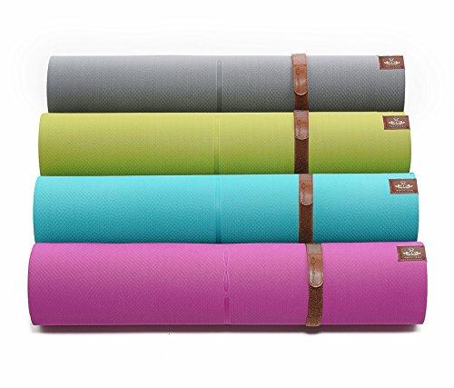 Heathyoga Yogamatte Pro, Ausrichtungs-System, Umweltfreundliche und hypo-allergene TPE-Matte, weich und rutschfest, ideal für alle Yoga-Lehrer und Yogis, In vielen Farben erhältlich. Maße: 183 x 65 x 0,6 cm