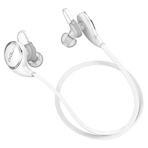 Bluetooth Earphones DrBlu V4.1 Wireless Pro Sport Stereo Sweatproof Headphones Headset Earphones Earbuds with HQ Bass APT-X and Built-in Mic for iPhone 5 6 7 and Android Phones (White)