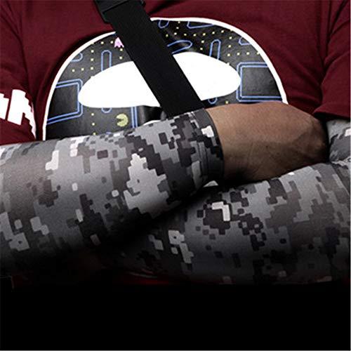 JinRui-Sport Tattoo Sleeve Outdoor-Reitarmset Sonnencreme mit Handschutz, M, Schwarze Digitalkamera, 2er-Pack