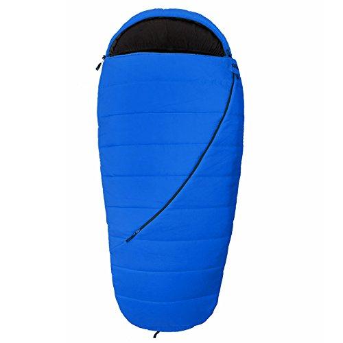 Qeedo - Buddy Xl Schlafsack blau in Eiform inkl. Kissen (Extra breit: 100 cm)