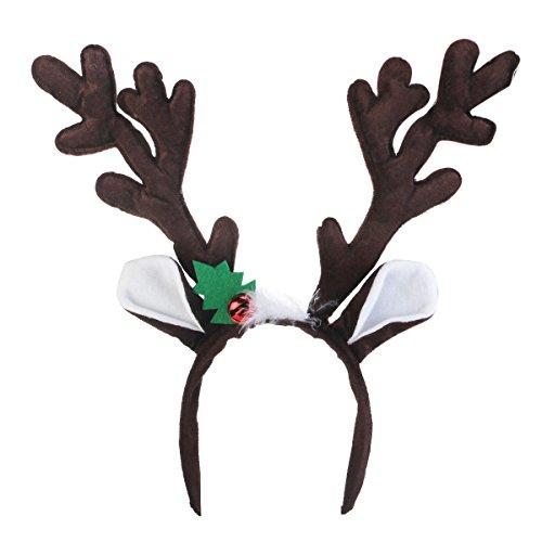 achten Rentier Geweih Stirnband für Weihnachten Party Kostüm Blinkt ()