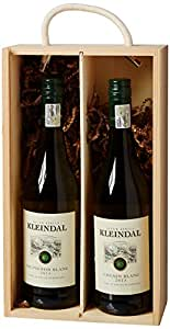 Kleindal 2 Bottle Wine Sauvignon Blanc-Chenin Blanc in Double Sliding Lid Wooden Box 2013 75 cl