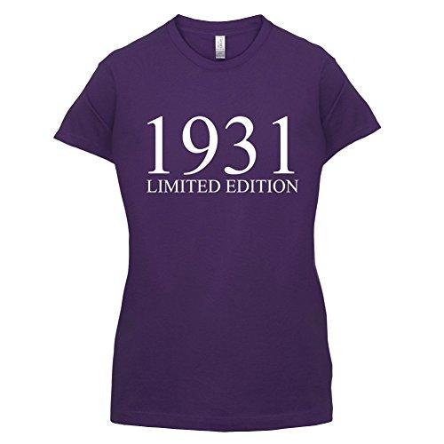 1931 Limierte Auflage / Limited Edition - 86. Geburtstag - Damen T-Shirt - 14 Farben Lila