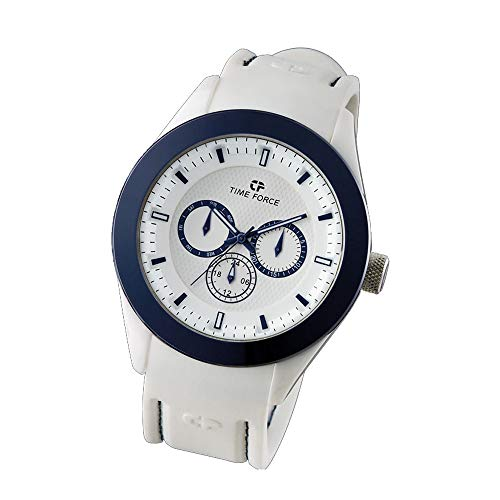 Time Force Reloj Analógico para Mujer de Cuarzo con Correa en Silicona TF4187L03
