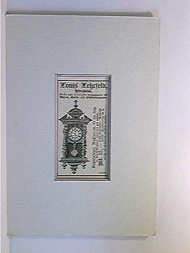 Werbegrafik Louis Lehrfeld, Pforzheim; Uhren, Gold- u. Silberwaren; ca. 1893; Keilschnittpassepartout