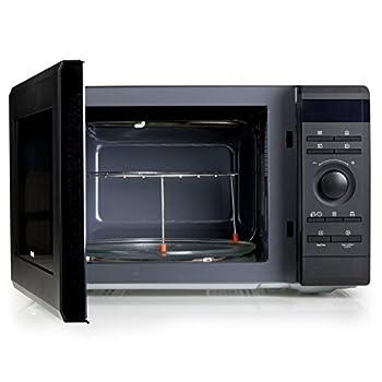 Mikrowelle Four à Micro-ondes avec gril 1500W, volume 36l, avec plateau tournant, 8programmes de cuisson, 5différentes puissances de micro-ondes, fermeture de sécurité, minuterie, noir