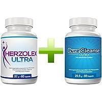 Herzolex Ultra und Purecleanse Ultra Doppelpaket   Extra schnelle Gewichtsabnahme und Entschlackung mit diesem Kombi-Paket