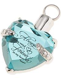 Shiny Rhinestone Crystal Heart Pet Human Ash Keepsake Urn Perfume Pendant