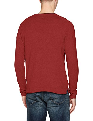 Jack & Jones Jorharvey Knit Crew Neck, Pull Homme Rouge (Rosewood)