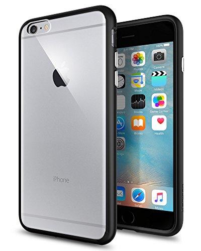 Spigen SGP11646 Ultra Hybrid Kompatibel mit iPhone 6S Plus Hülle, Einteilige Transparent Durchsichtige PC Rückschale Schutzhülle Case Schwarz