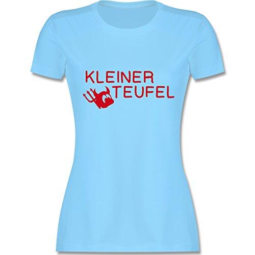 Sprüche - Kleiner Teufel - tailliertes Premium T-Shirt mit Rundhalsausschnitt für Damen Hellblau