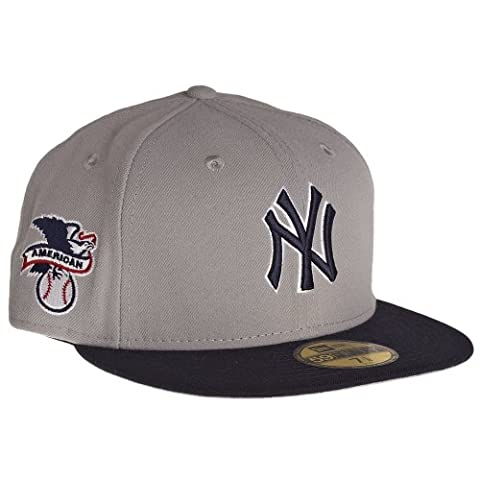 New Era New York Yankees Reverse AL Patch 59Fifty Fitted MLB Cap 7