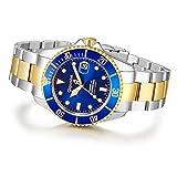 """Gigandet Herren Automatik-Armbanduhr """"Sea Ground"""" Analog Edelstahlarmband Blau Gold G2-001 - 9"""