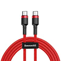 Baseus CATKLF-G09 Cafule Series Flash Charge Cable, Type-C PD2.0, 1M, Kırmızı