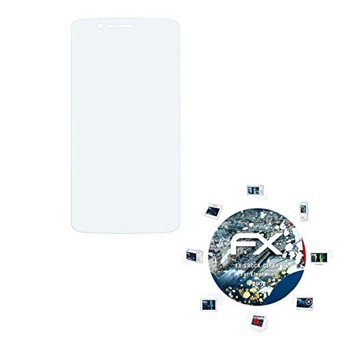 atFolix Schutzfolie kompatibel mit Elephone P8000 Panzerfolie, ultraklare & stoßdämpfende FX Folie (3X)