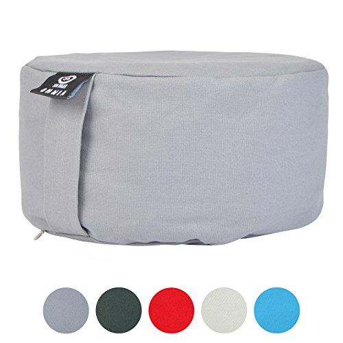 ZenPower Meditationskissen Omnia - Yoga Kissen Sitzhöhe: 15cm - Yoga Kissen mit Buchweizenhaufenfüllung - Waschbarer Bezug 100% Dicke Baumwolle