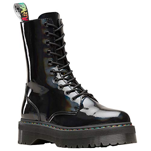Dr. Martens Unisex Adults' Jadon X Classic Boots (Black Rainbow 001), 4 Uk (37 Eu)