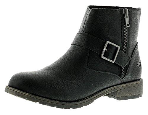New Ladies/Womens Rocket Dog Biz Biker Style Ankle Boots - Black -...